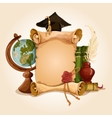 Graduation diploma old style vector image