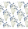 Romantic Wild Flowers Seamless Pattern vector image vector image
