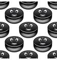 Smiling hockey pucks seamless pattern vector image vector image
