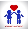 Children are holding heart vector image