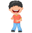 Little boy laughing and pointing vector image