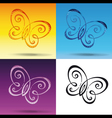 Butterfly Symbol vector image