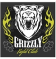 Grizzly bear head - emblem vector image vector image