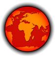 global warming globe vector image
