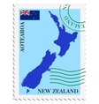 mail to-from New Zealand vector image