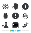 attention and dna icons chemistry flask vector image