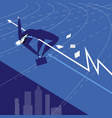 businessman athlete flat vector image