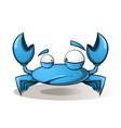 cute funny crab - cartoon vector image