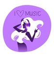 Dance girl silhouette vector image