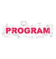 design concept of word program website banner vector image
