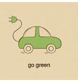 Eco friendly car vector image