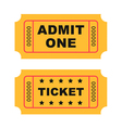 Flat design vintage cinema tickets vector image