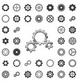 gears icons big set vector image