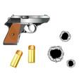 gun and patrons vector image