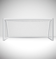 Isolated soccer goal design vector image