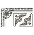 ornament logo design template frame or vector image