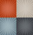 Sunburst Backgrounds Set vector image