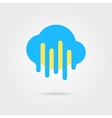 weather forecast icon with cloud and sun vector image