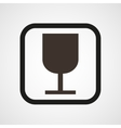 Wineglass icon Simple vector image