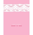 Pink lineart leaves chevron vertical torn seamless vector image vector image
