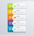 5 infographic tab index banner design and vector image