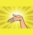 women open palm hand hold gesture vector image