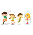 Active kids playing vector image