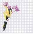 postcard with beautiful flower vector image vector image
