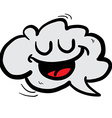 happy freehand drawn cartoon cloud speech bubble vector image vector image