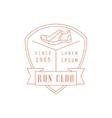 Run Club Red Label Design vector image vector image