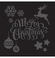Christmas dots elements vector image