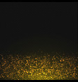 gold glitter dust texture transparent vector image