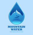 mountain water vector image