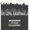 Pine forest design templates vector image