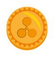 ripple money golden coin vector image