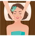 Woman at the massage spa salon vector image