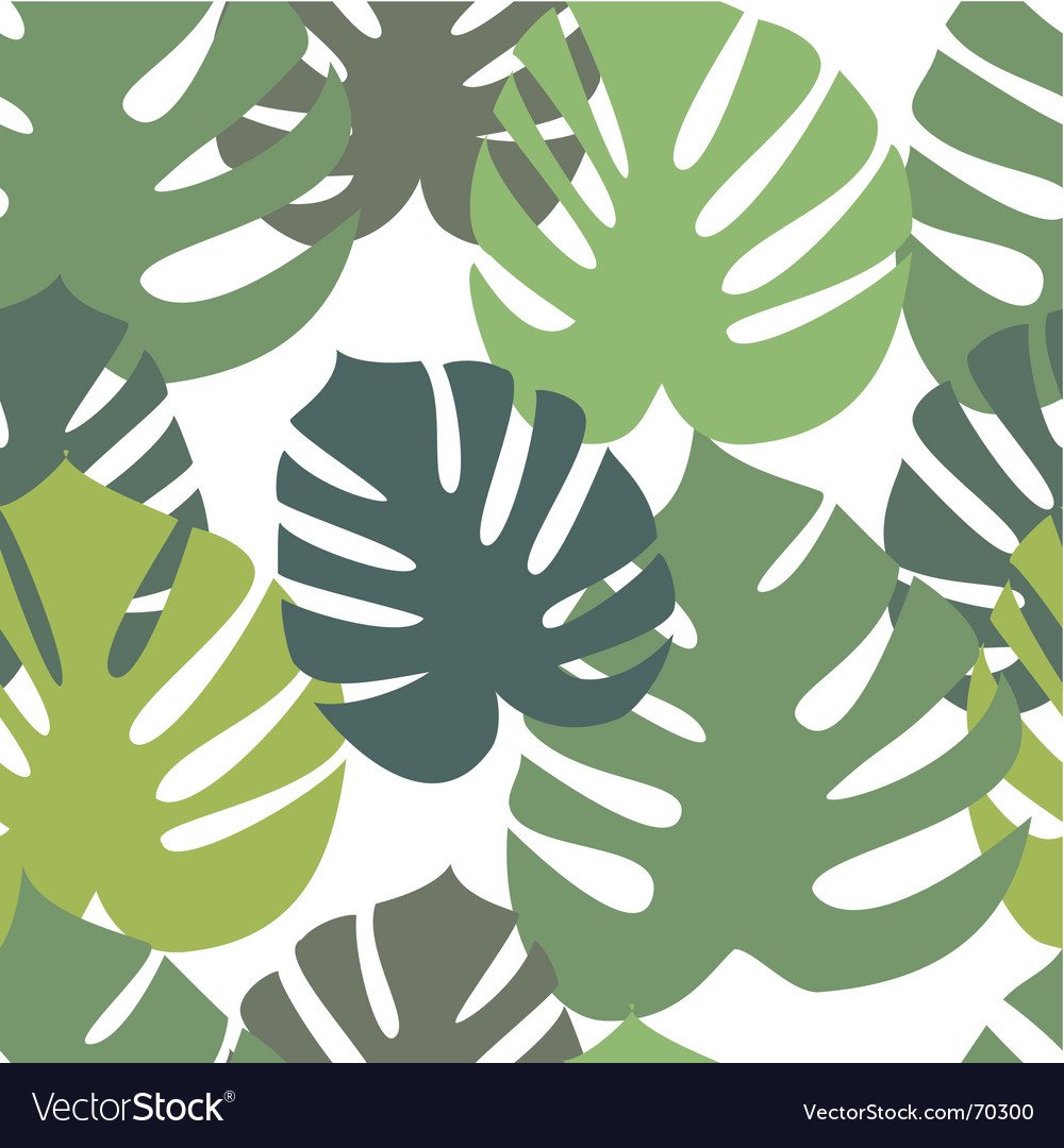 Monster leaves pattern vector