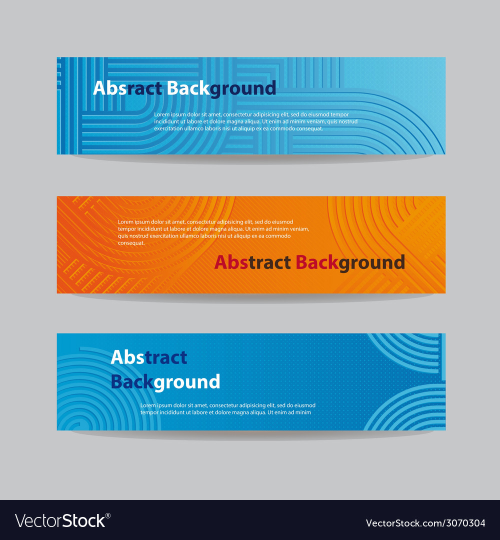 Abstract blue and orange banners vector