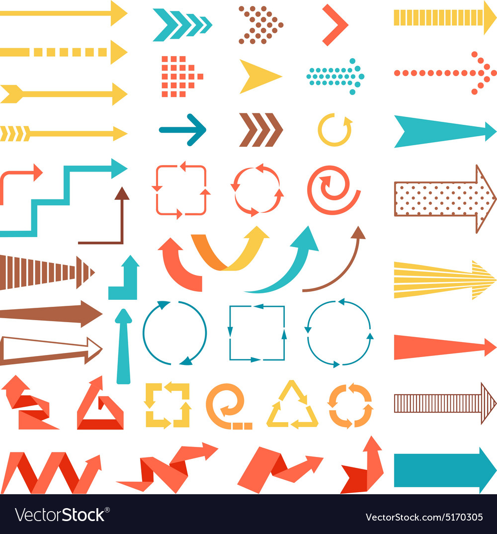Arrows and directions signs vector
