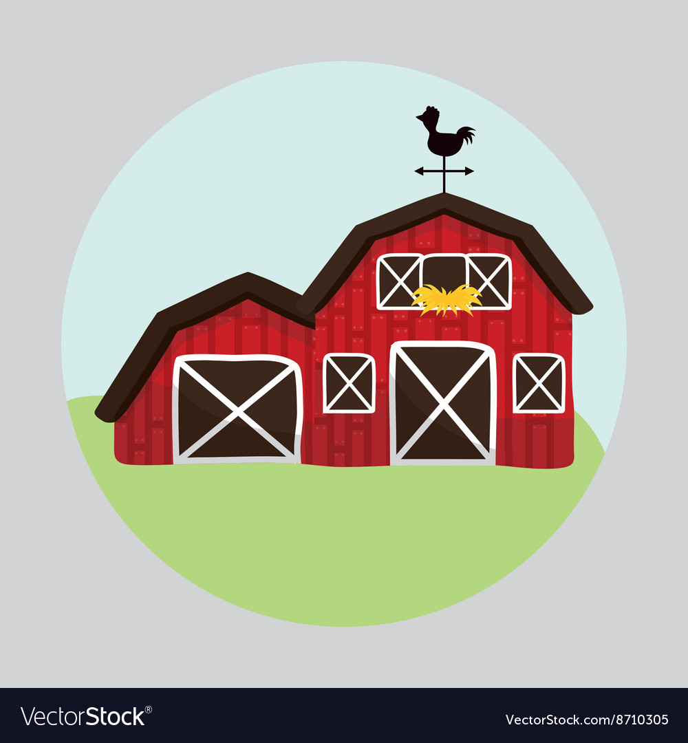Farm design animal icon white background vector