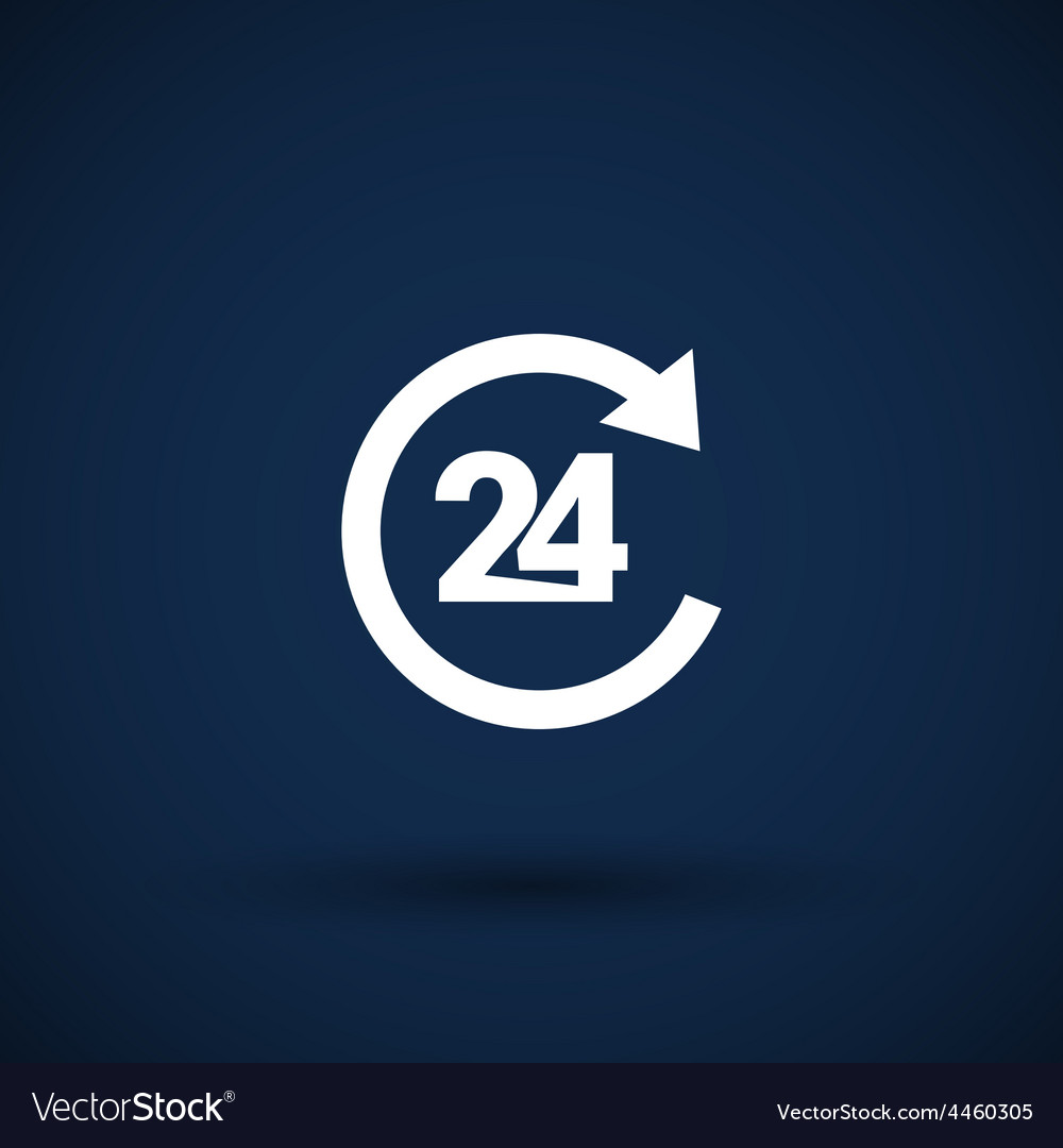 Open 24 hours icon icon clock time delivery vector