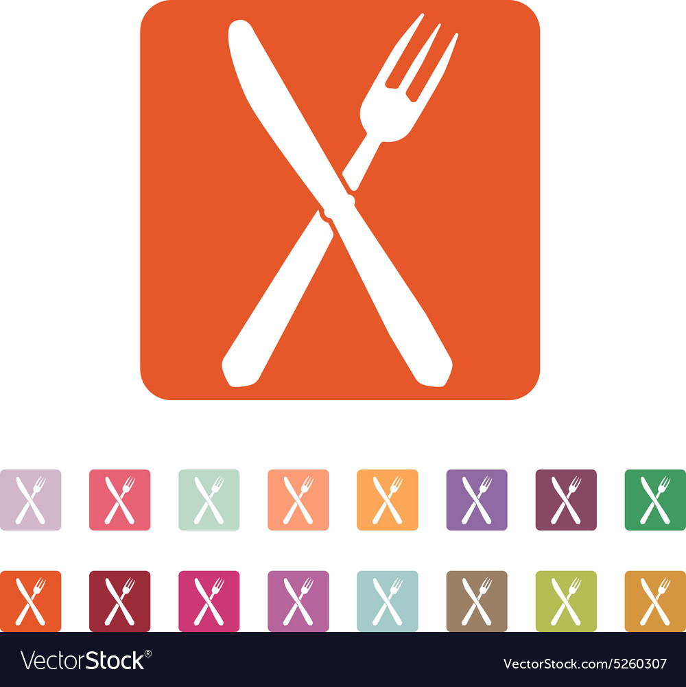 Knife and fork icon vector