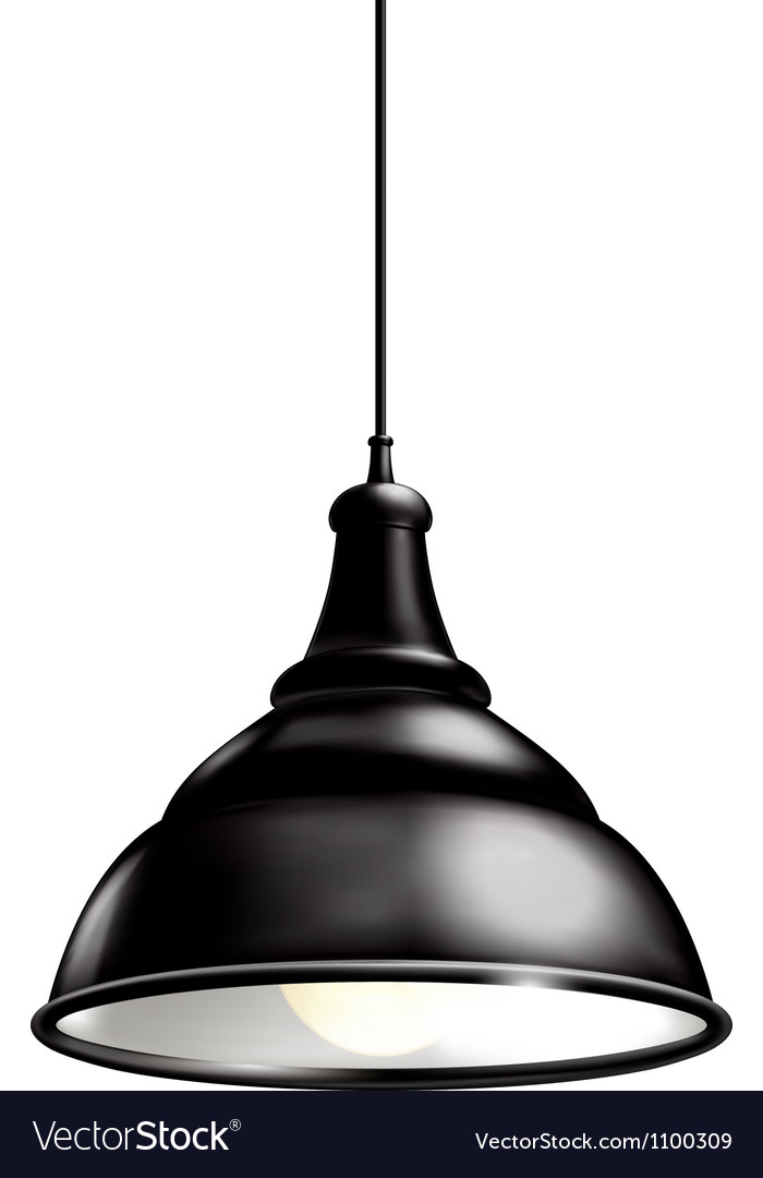 Black lamp vector