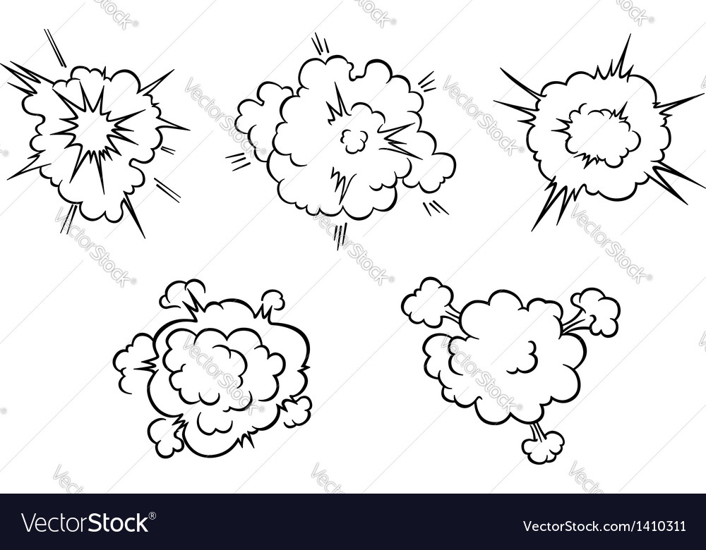 Clouds and explosions vector
