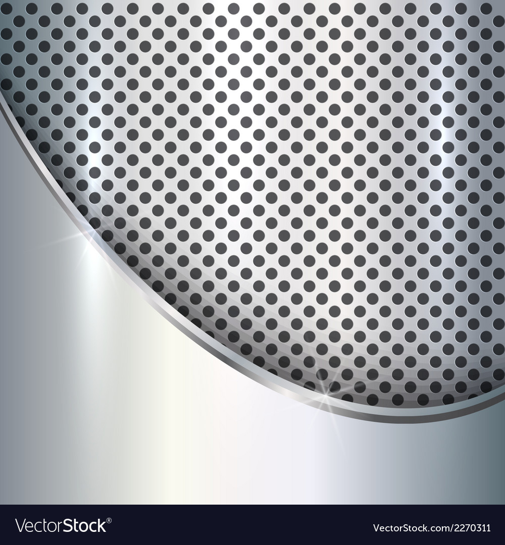Metallic silver background vector