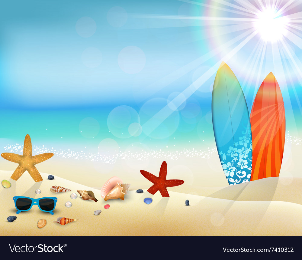 Holiday background in beach vector