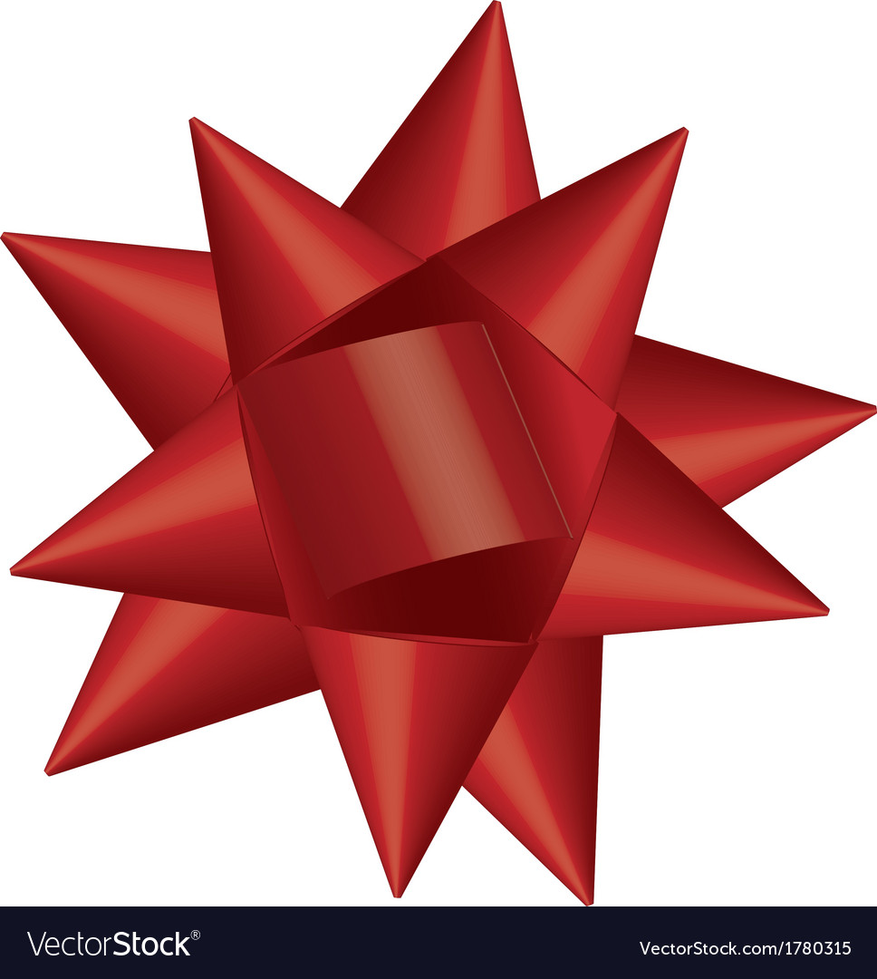 Christmas bow vector