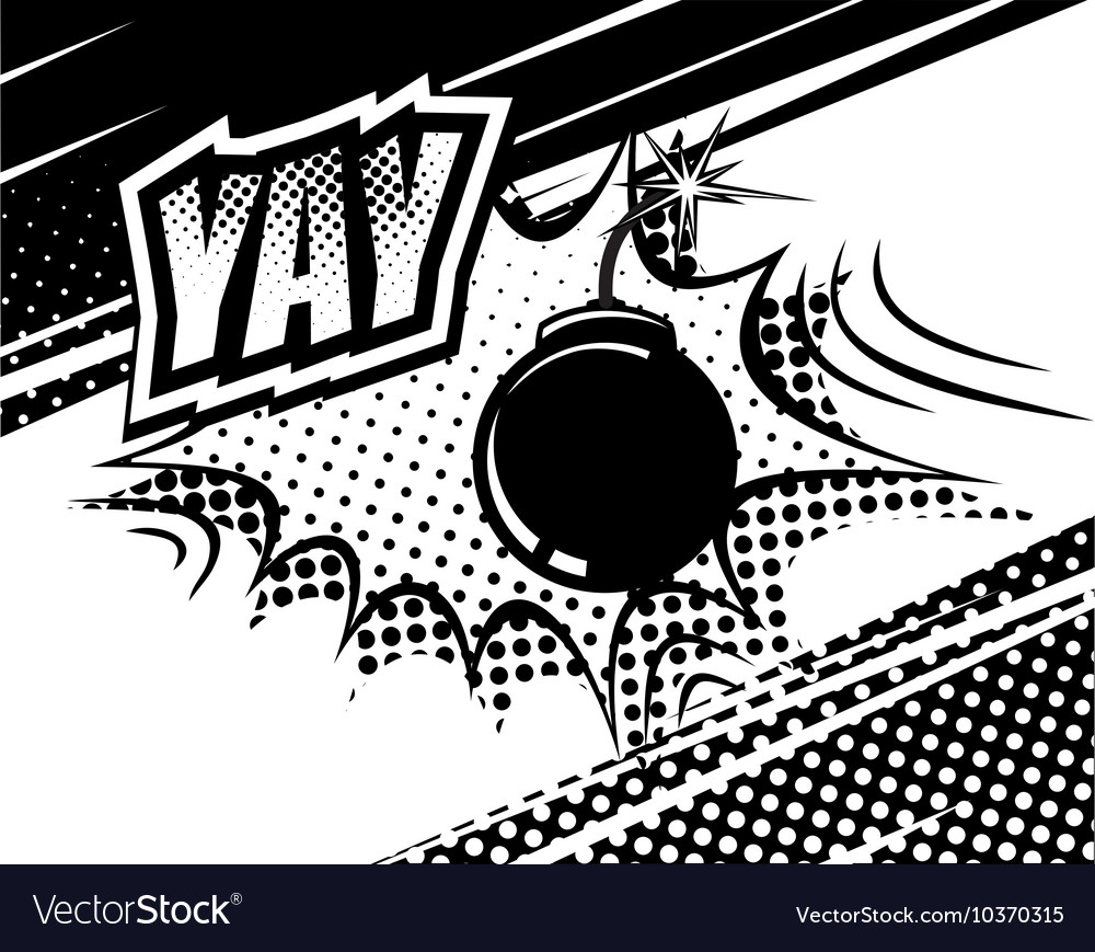 Yay comic sound bubbles and explosions in pop art vector