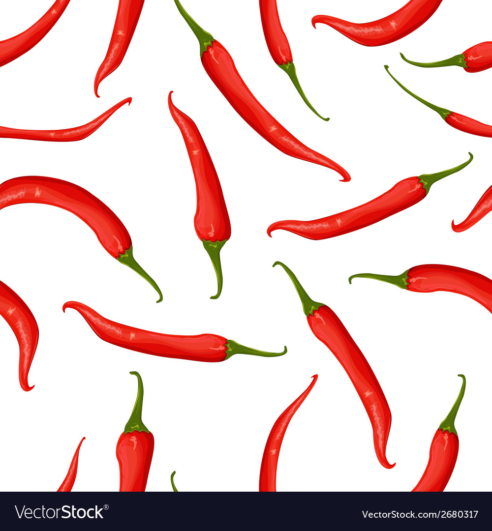 Seamless texture of hot pepper vector