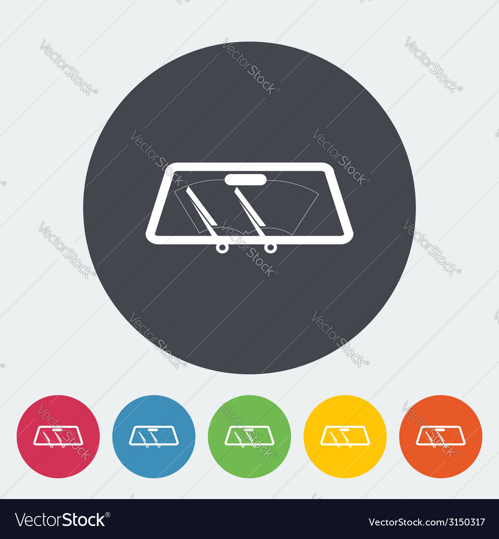 Wiper car single icon vector